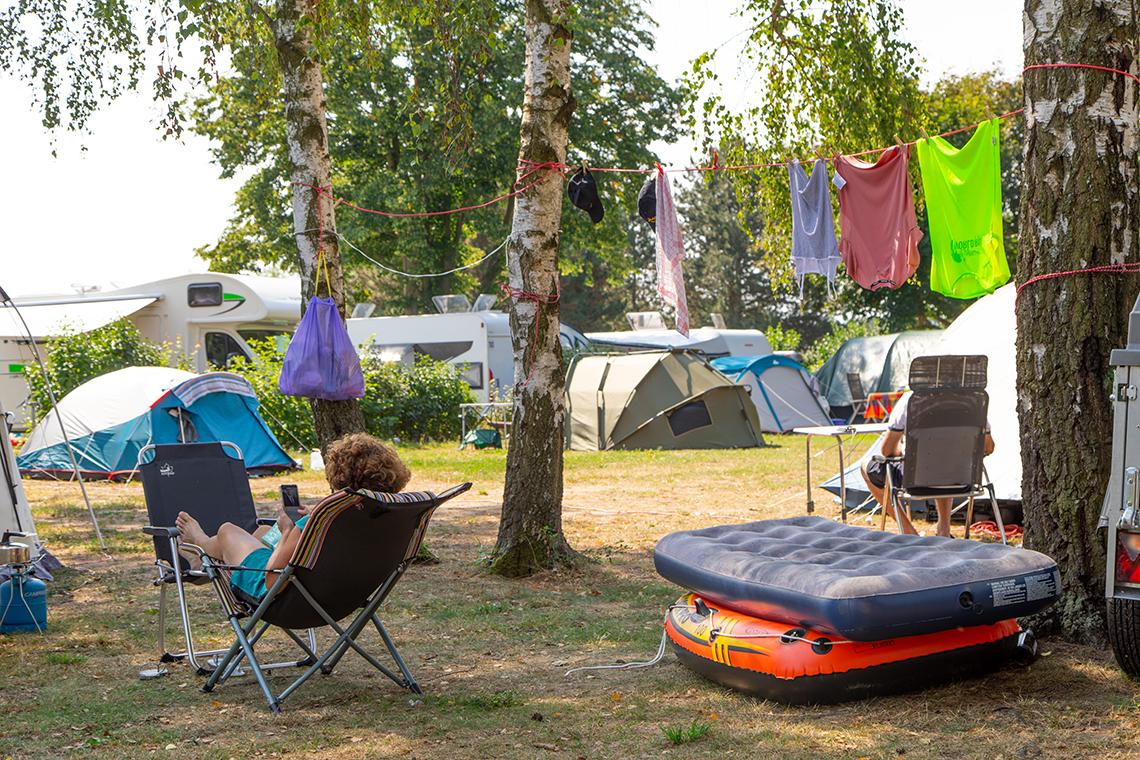 Zelten in Sachsen nahe der sächsischen Landeshauptstadt Dresden