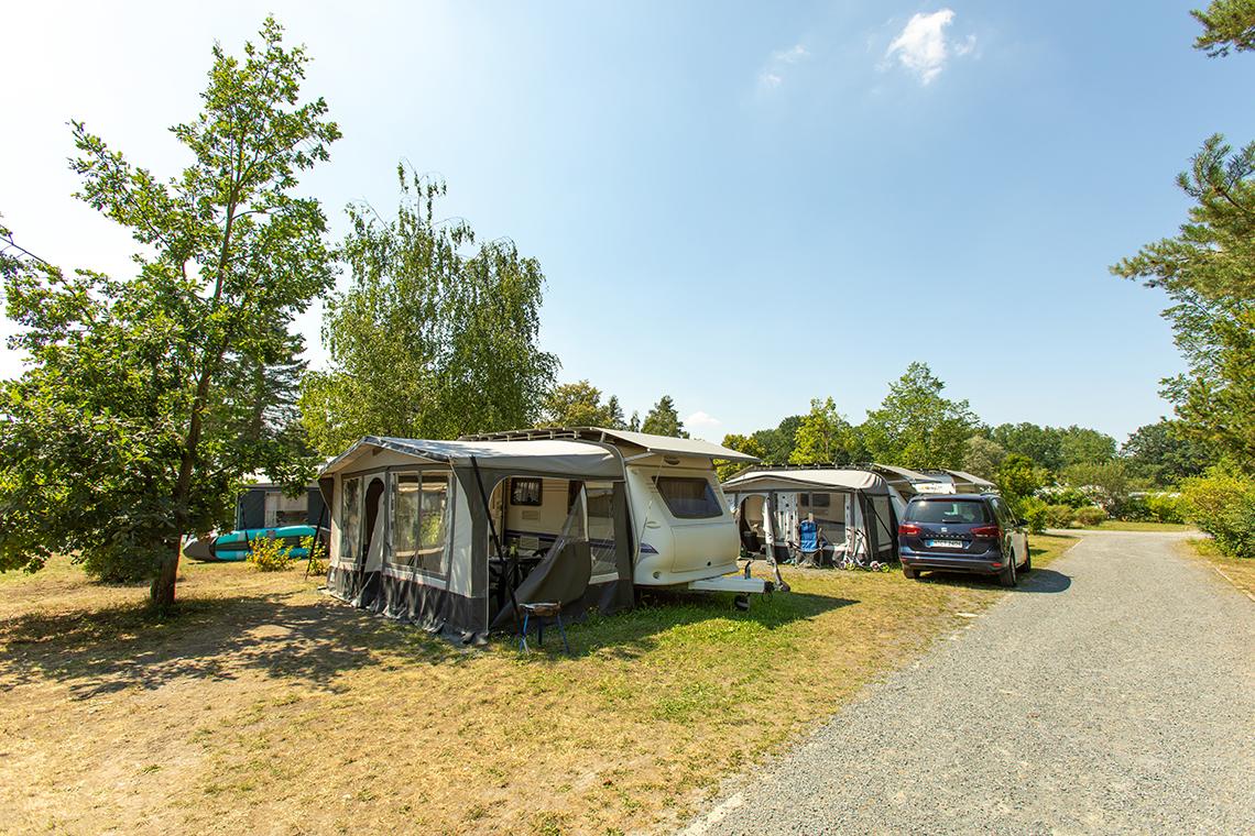 Campingplatz mit Mietwohnwagen in Pirna nahe Dresden