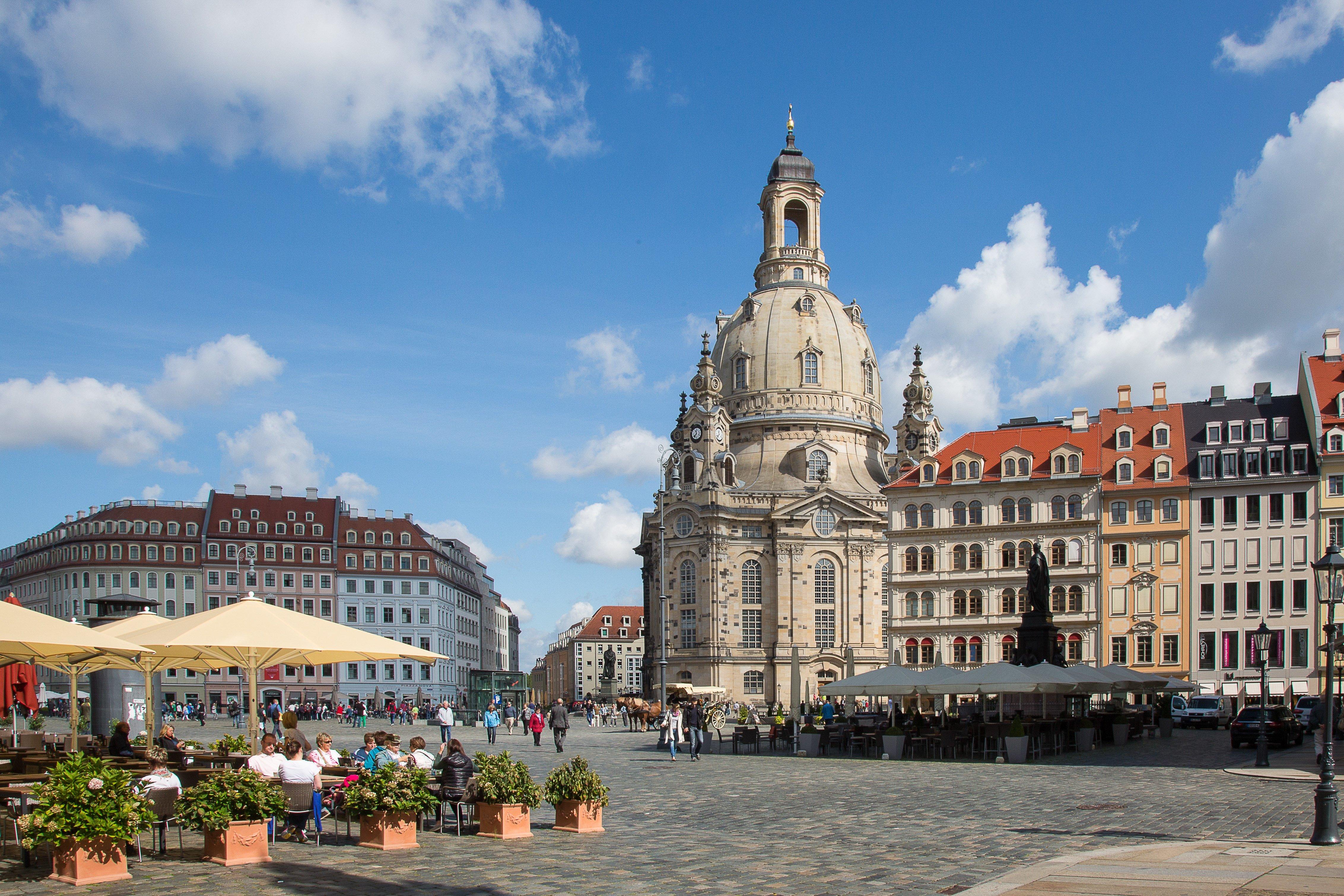 Campingplatz bei Dresden - Frauenkirche Dresden