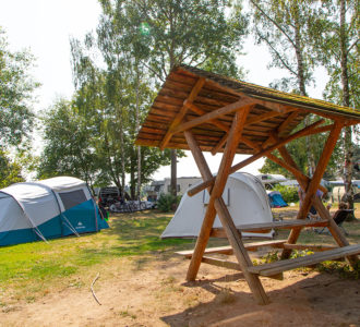 Zeltwiese auf dem Naturcampingplatz