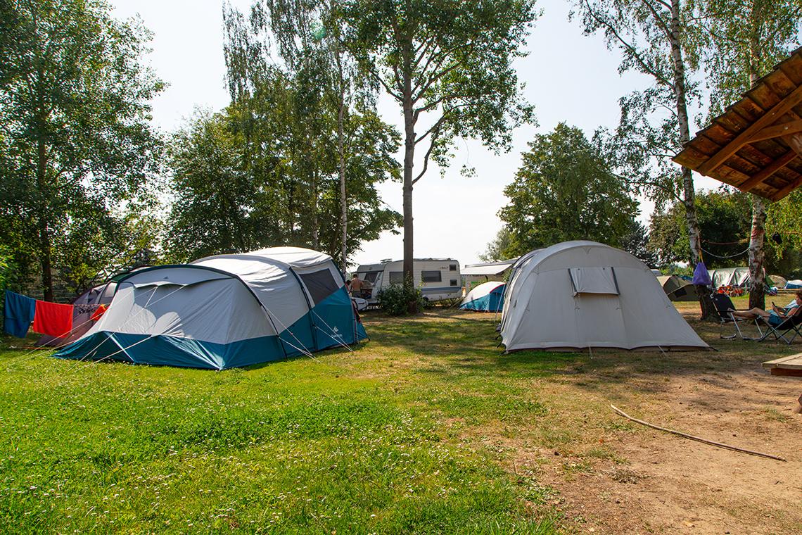 Zeltwiese auf dem Campingplatz Pirna
