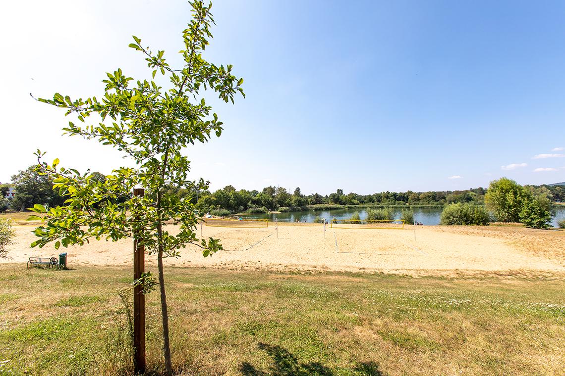 Beachvolleyballfelder am Natursee Pirna-Copitz