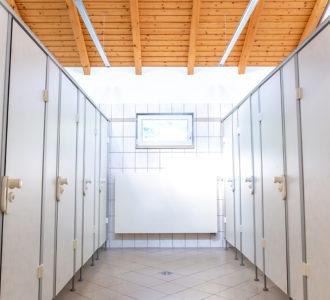 WC-Anlagen in Sanitärgebäude 1
